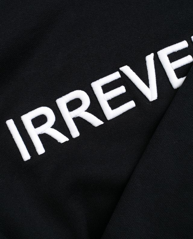 Irreverent embroidered cotton sweatshirt N°21