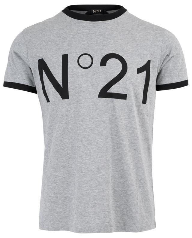 Printed cotton T-shirt N°21
