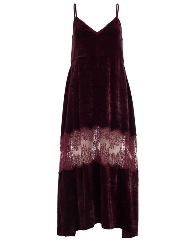 Kleid aus Samt und Spitze Kelsey STELLA MCCARTNEY