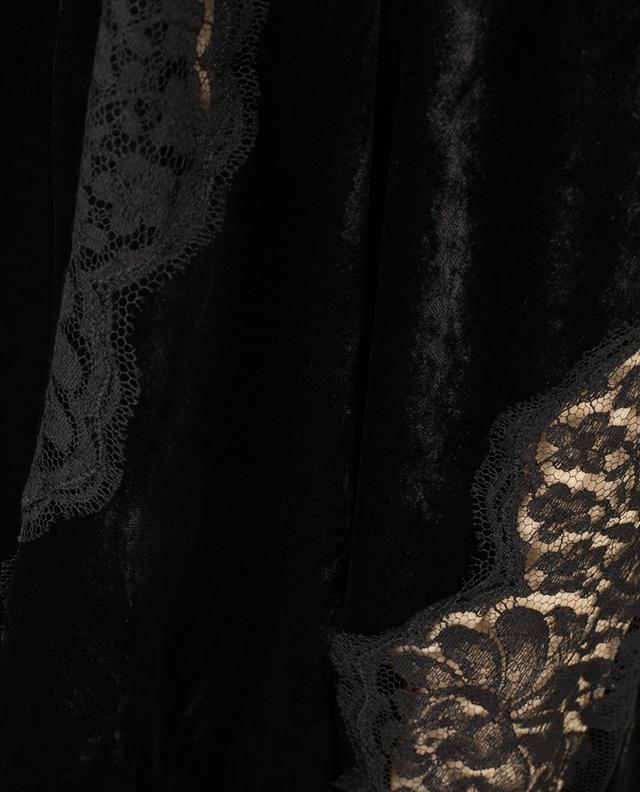 Robe longue en velours, soie et dentelle STELLA MCCARTNEY