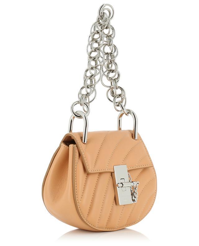 Mini-Tasche aus gestepptem Leder Nano Drew CHLOE