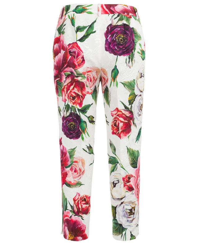Pantalon en coton et soie mélangés DOLCE & GABBANA