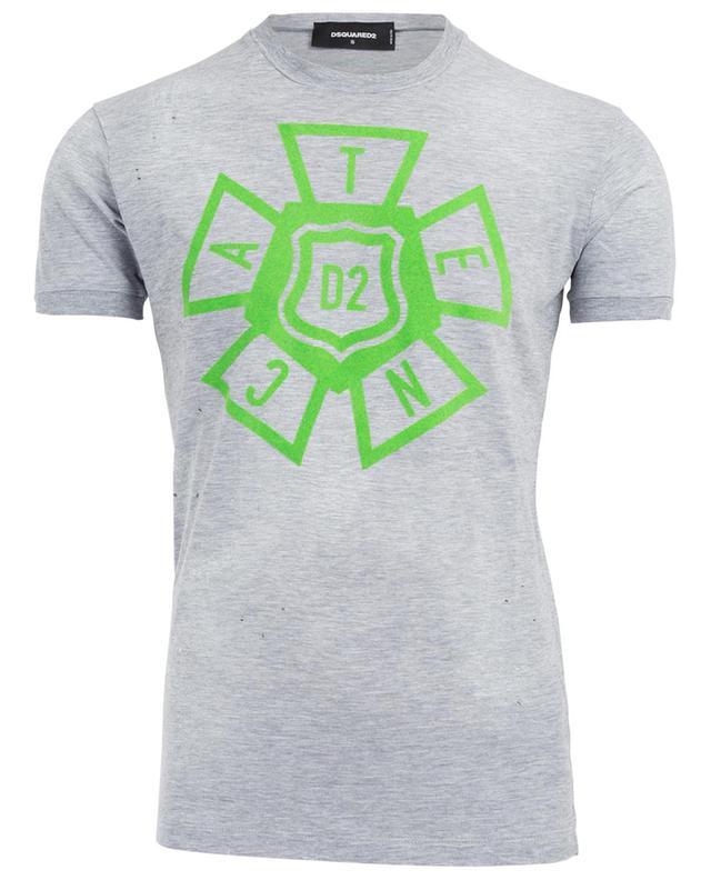 T-shirt effet vieilli en coton mélangé DSQUARED2