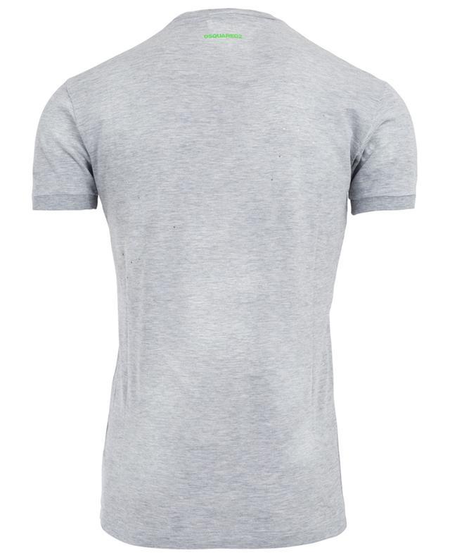 Distressed cotton blend T-shirt DSQUARED2