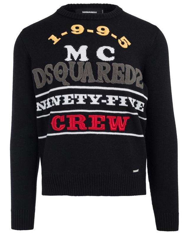 Pull en laine brodé 1995 MC DSQUARED2