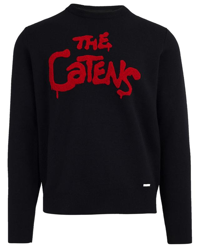 Pull en laine brodé The Catens DSQUARED2