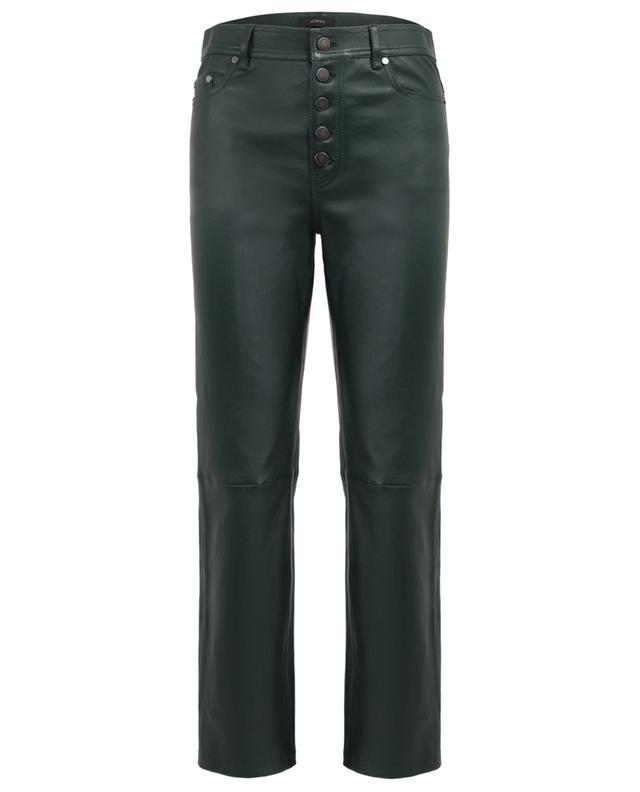 Den slim fit leather trousers JOSEPH