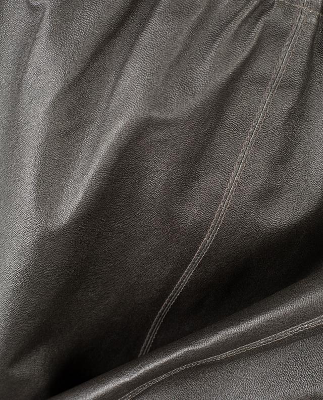 Jupe courte en cuir stretch Brizana MAX ET MOI