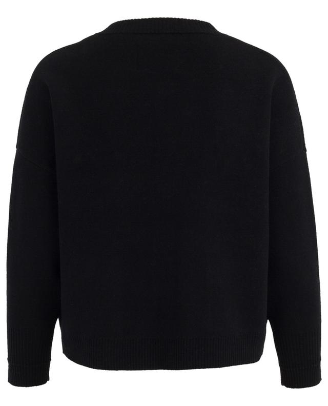 Merino wool and cashmere cardigan with fur MAX ET MOI