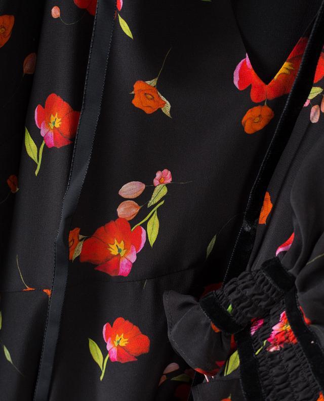 Robe fleurie en soie Mona VILSHENKO