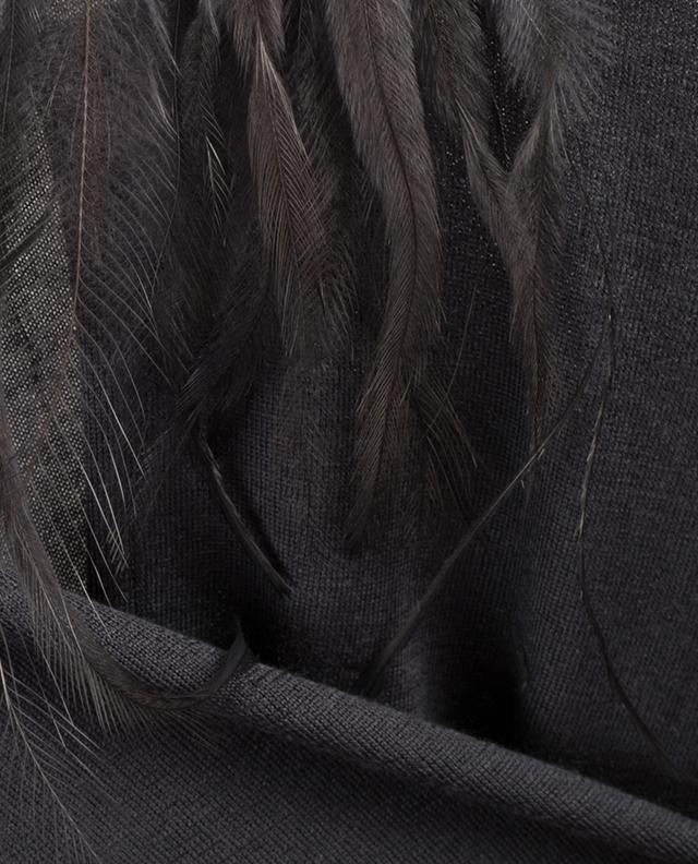 Pull en cachemire et soie orné de plumes FABIANA FILIPPI