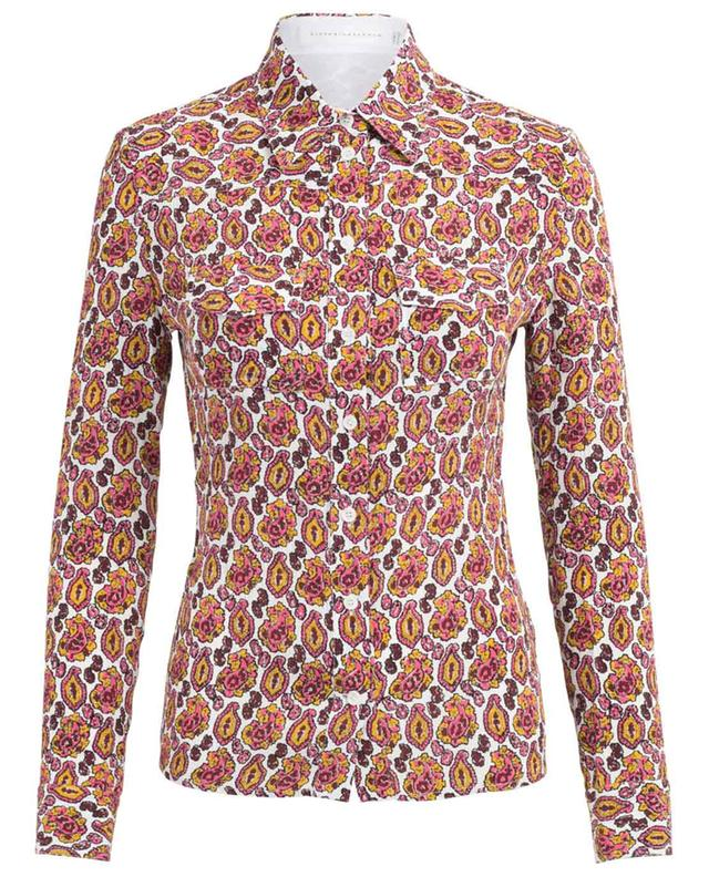 Bedrucktes Hemd aus Seidenkrepp VICTORIA BECKHAM