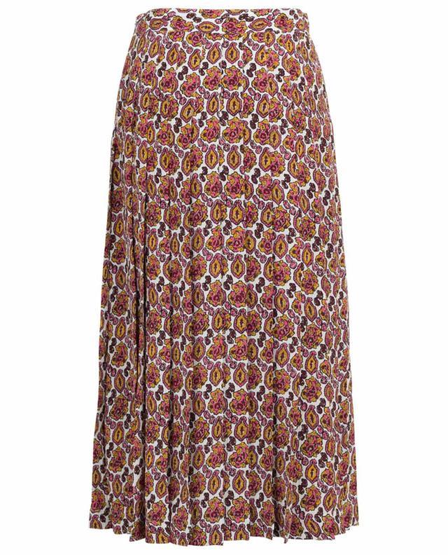 Paisley Crepon midi-length pleated skirt VICTORIA BECKHAM