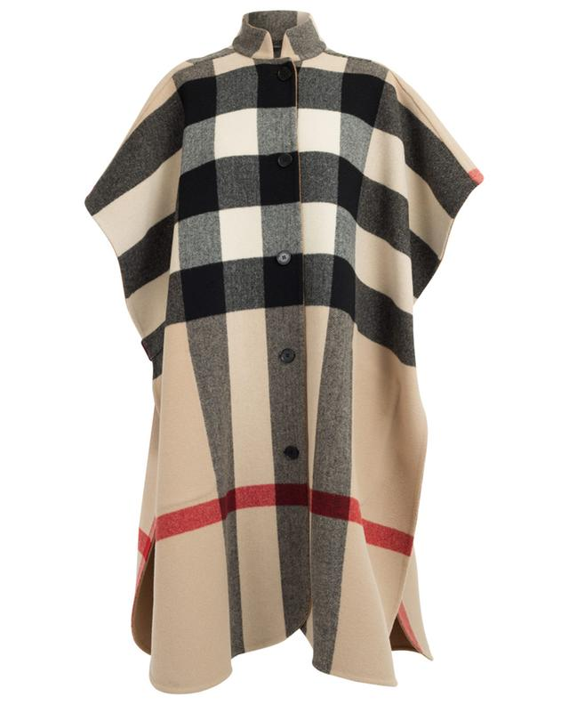 Reversible wool blend cape BURBERRY