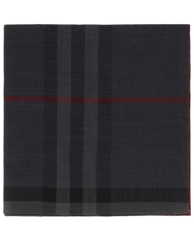 Giant Check lightweight wool and silk scarf BURBERRY