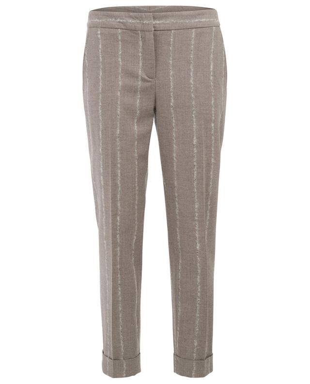 Cropped virgin wool blend trousers LORENA ANTONIAZZI
