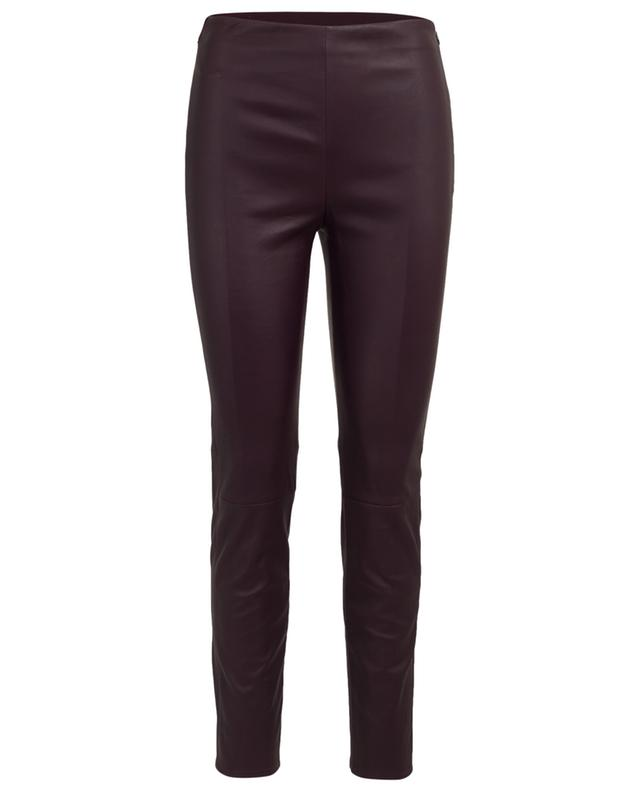 Slim fit leather trousers LORENA ANTONIAZZI