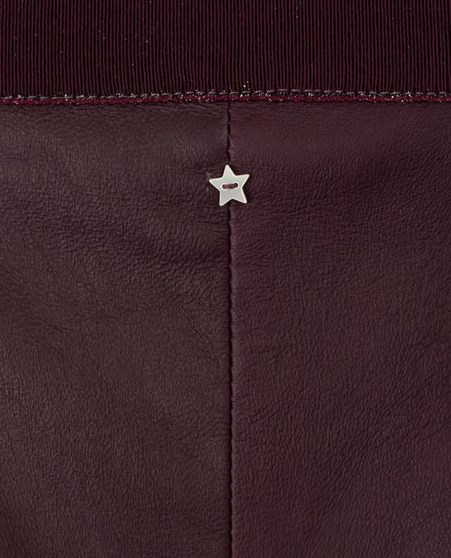 Pantalon slim en cuir LORENA ANTONIAZZI