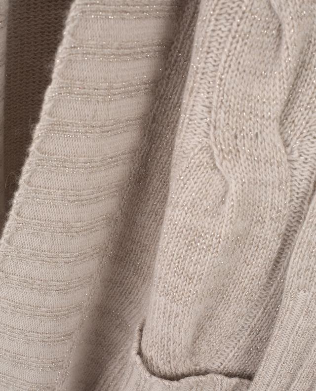 Cardigan ouvert en laine et cachemire LORENA ANTONIAZZI