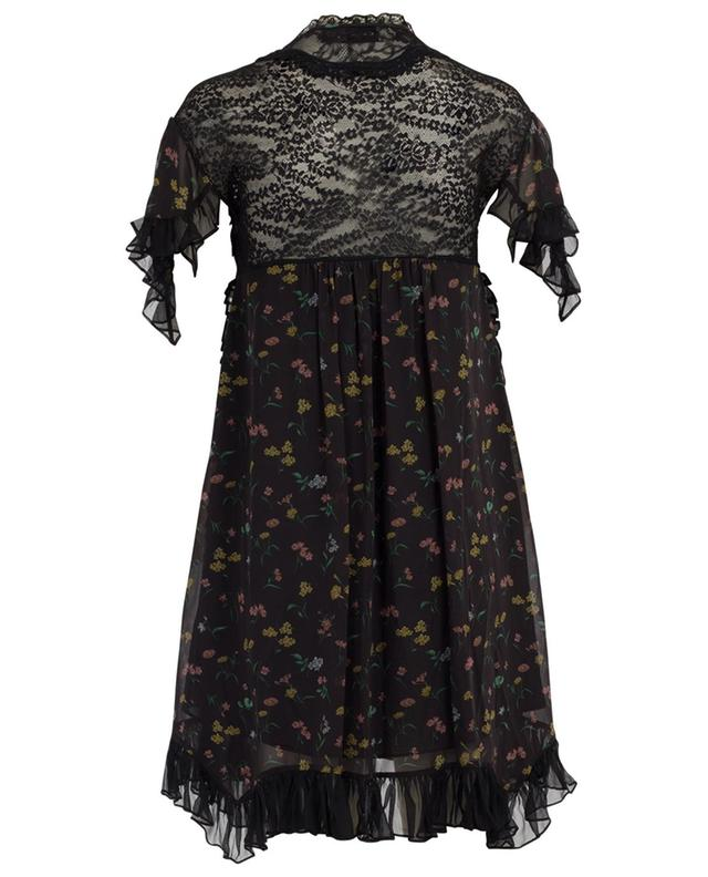 Robe courte avec dentelle COACH
