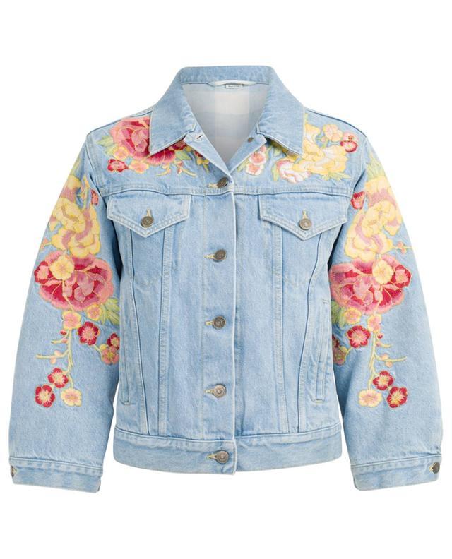 Embroidered denim jacket GUCCI