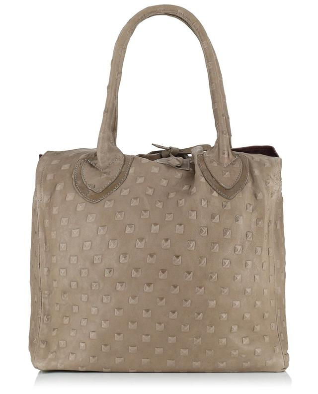 Medium Pyramide leather handbag LET&HER