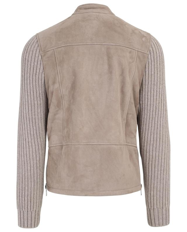 Suede, wool and cashmere jacket ELEVENTY
