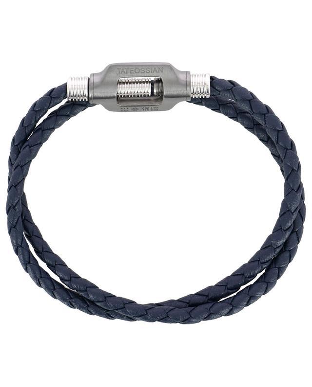 Bracelet en cuir tressé Double Bolt Large TATEOSSIAN