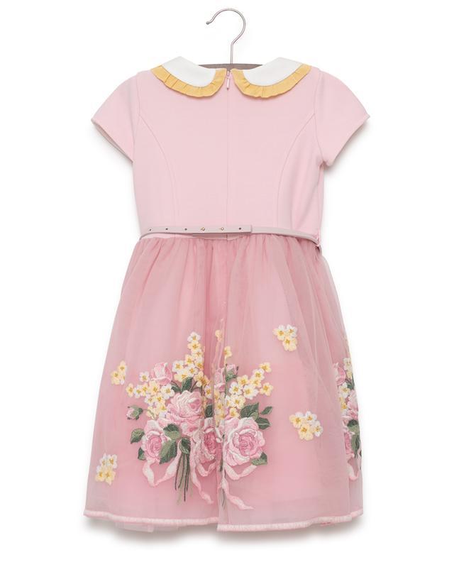 Kurzärmliges, besticktes Kleid MONNALISA