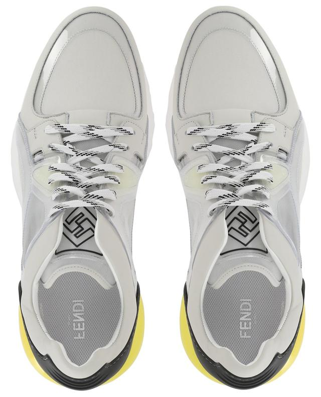 Mesh, leather and vinyl sneakers FENDI