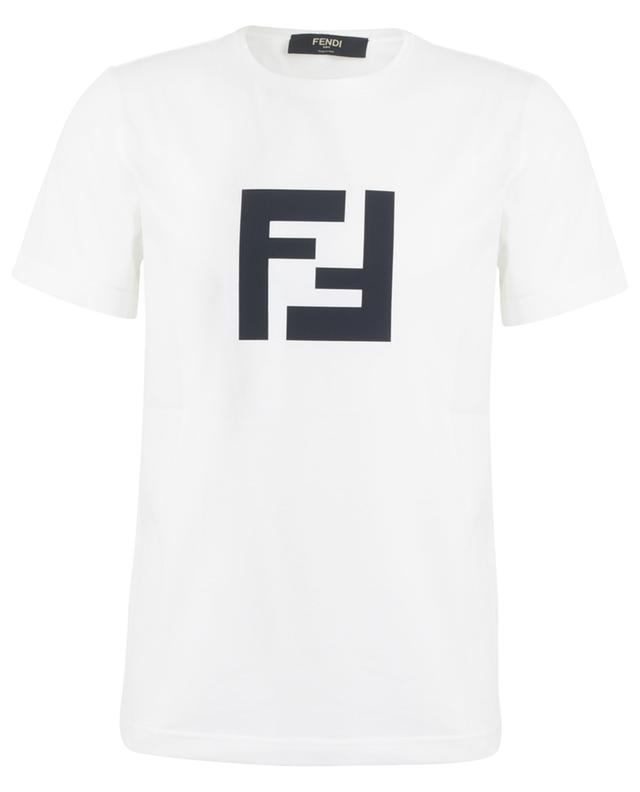 T-Shirt aus Baumwolle mit FF-Logo FENDI