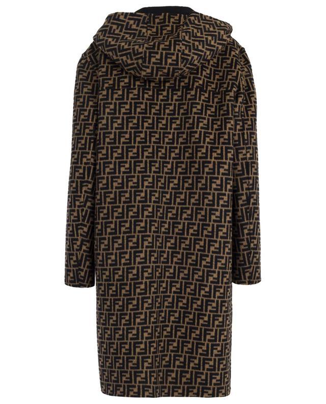FF reversible wool and silk coat FENDI