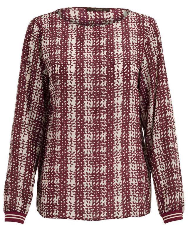 Printed silk blouse WINDSOR