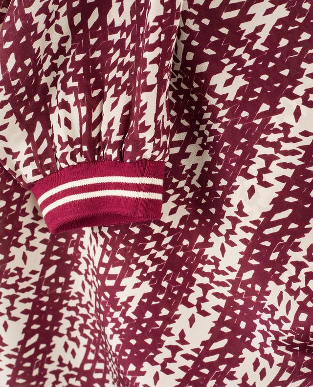 Bedruckte Bluse aus Seide WINDSOR