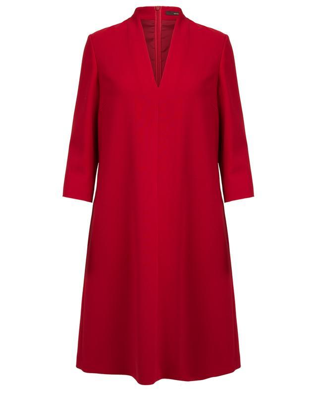 Robe trapèze en laine vierge WINDSOR