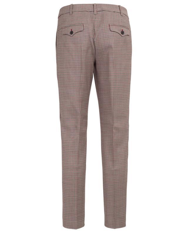 Pantalon droit raccourci en laine WINDSOR