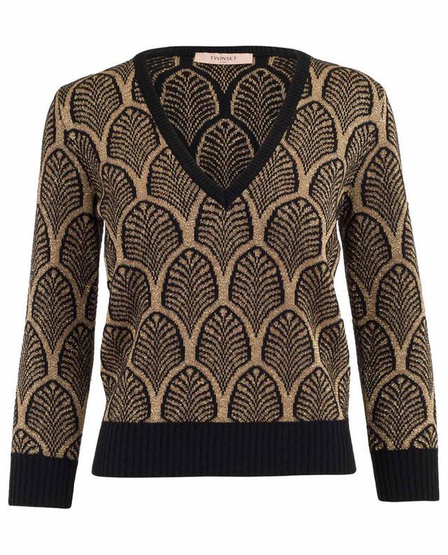 Wool blend and lurex jumper TWINSET