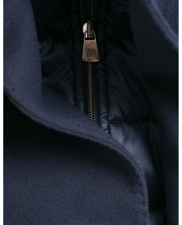 Virgin wool coat with removable bib CINZIA ROCCA