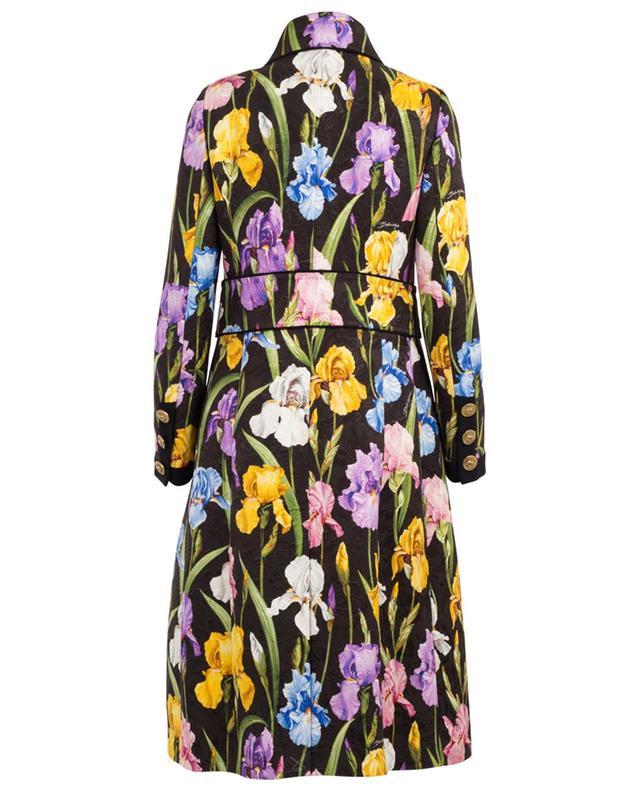 Manteau en brocart imprimé Iris DOLCE & GABBANA