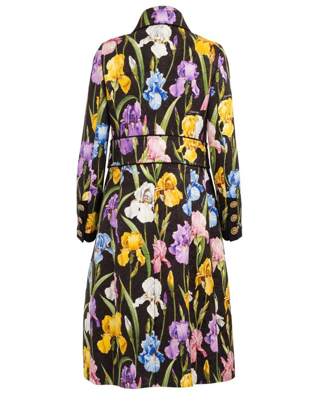 Iris print brocade coat DOLCE & GABBANA