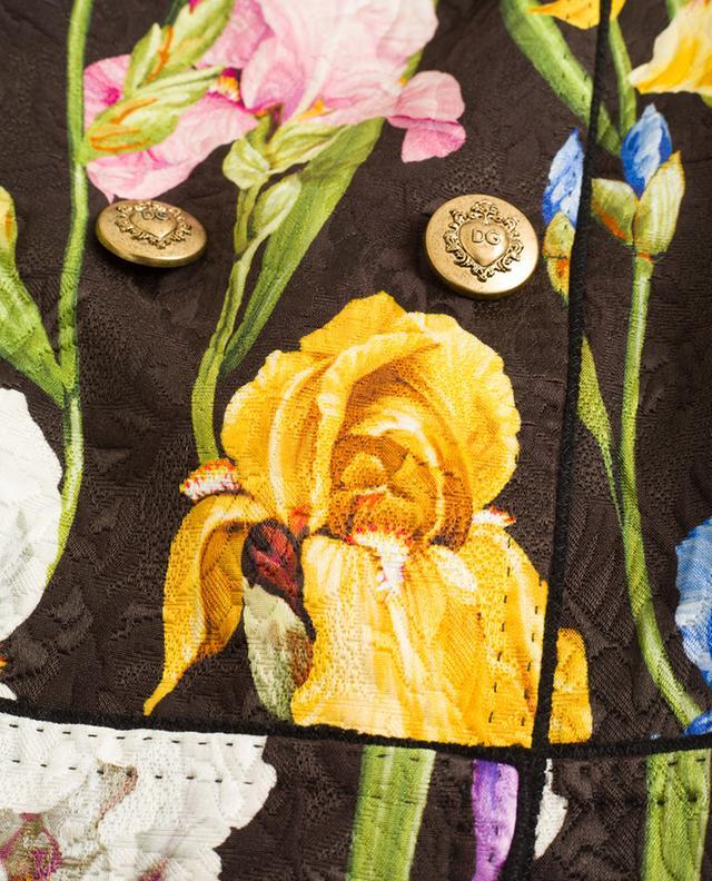 Mantel aus bedrucktem Samt Iris DOLCE & GABBANA
