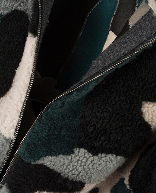 Blouson réversible en peau lainée LORENA ANTONIAZZI