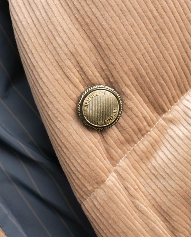 Daunenjacke aus Kord mit Schafsfell-Kragen BRUNELLO CUCINELLI