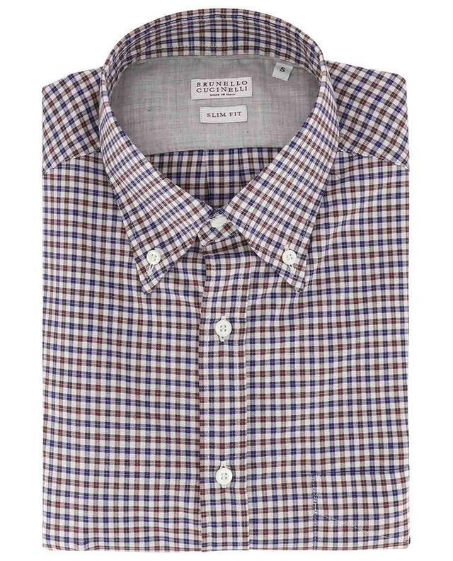 Kariertes Hemd aus Baumwolle BRUNELLO CUCINELLI