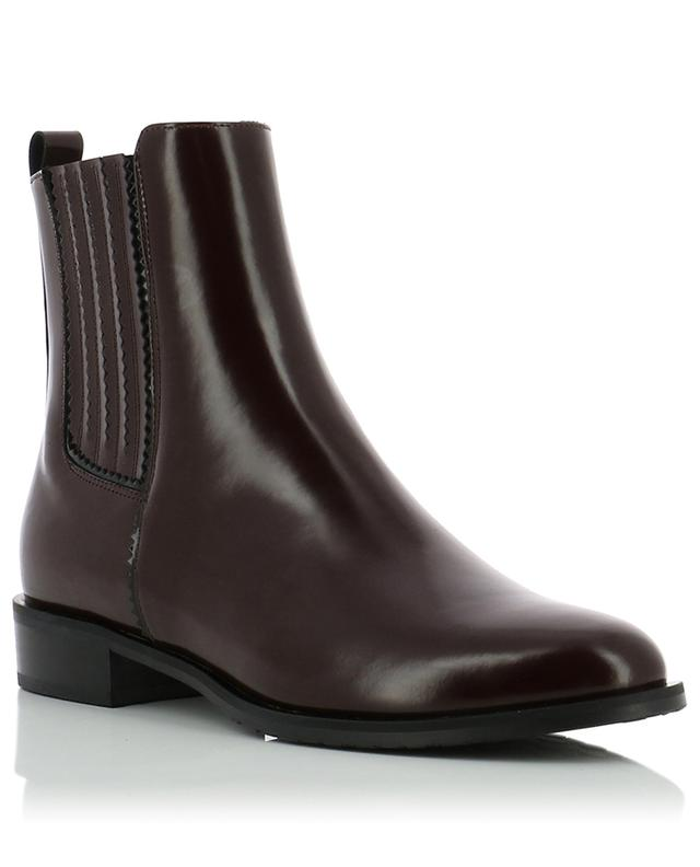 Flat smooth leather ankle boots BONGENIE GRIEDER