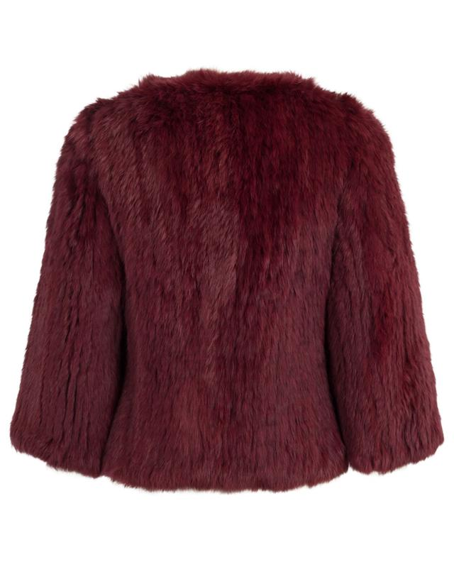 Rabbit fur jacket YVES SALOMON