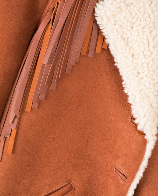 Blouson en daim et peau lainée PHILOSOPHY