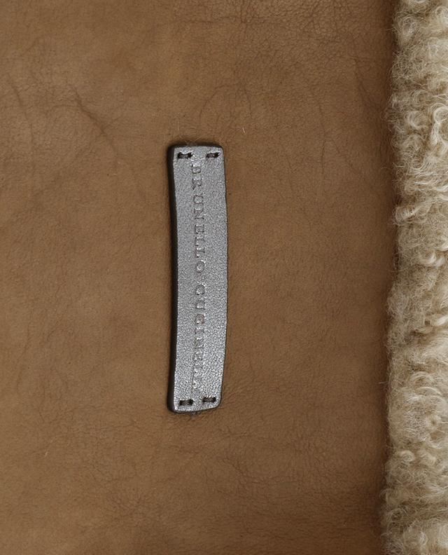 Sac cabas réversible en peau lainée BRUNELLO CUCINELLI