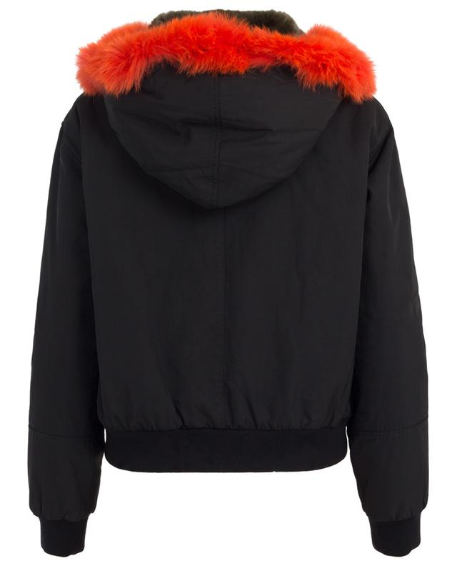 Technical fabric and fur bomber jacket Y SALOMON ARMY