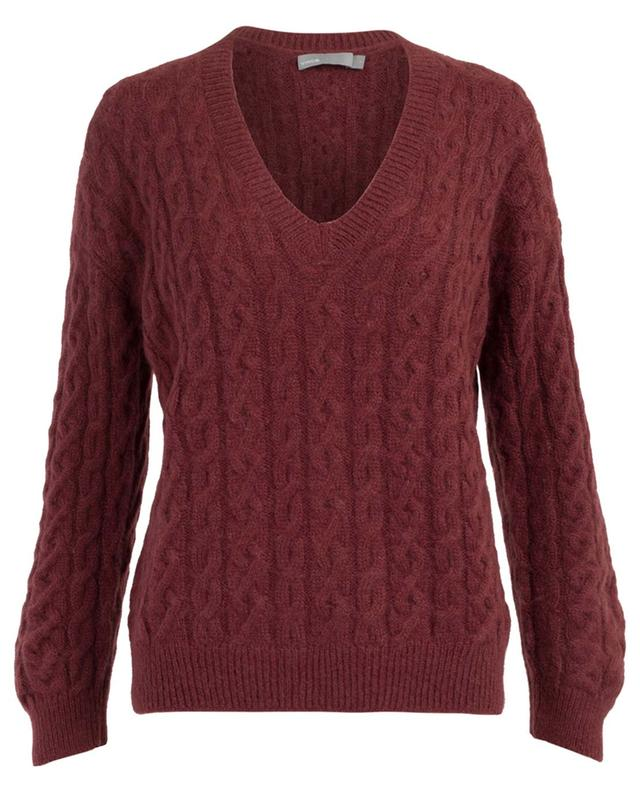 Mohair and alpaca cable knit jumper VINCE